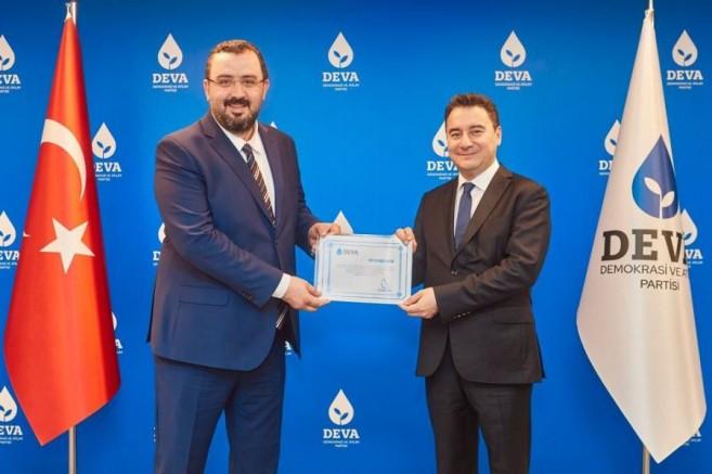 DEVA Partisi Sivas İl Kurucu Başkanı Yüksek Mimar Serdar İnce oldu