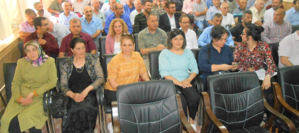 Kaymakam Muhammet Öztabak'ın muhtarlarla aylık toplantısı