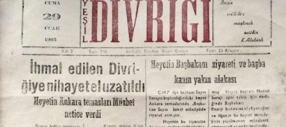 Yeşil Divriği Gazetesi 58 Yaşında